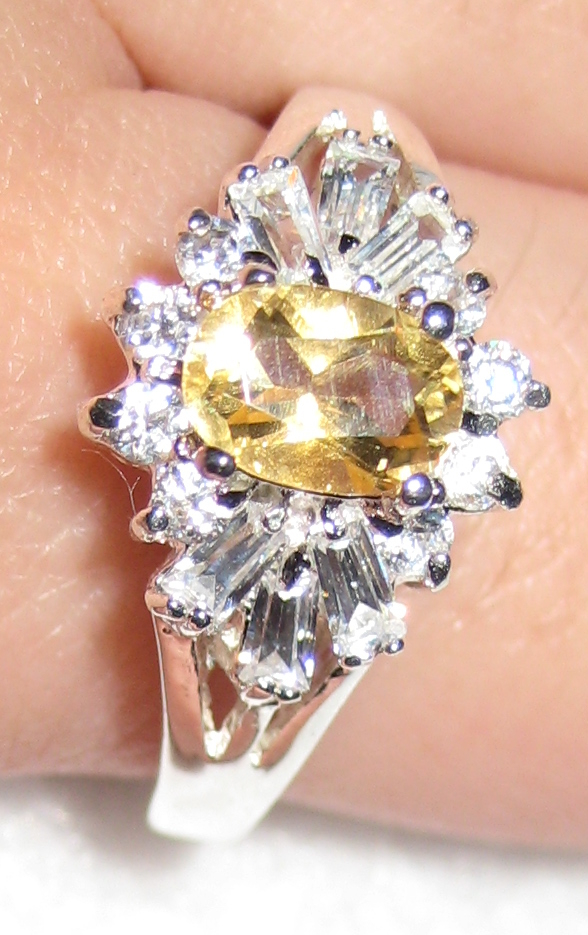 Gemsations Sterling Silver and Citrine Ring