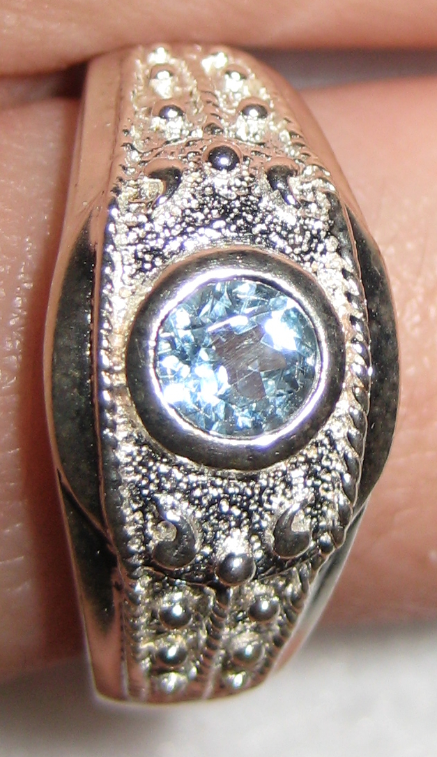 Gemsations Sterling Silver and Blue Topaz Ring
