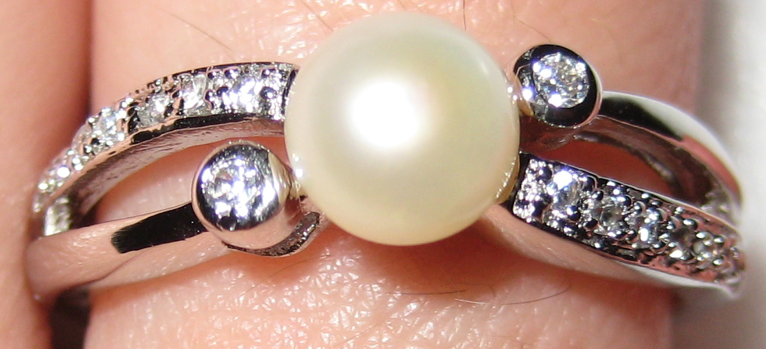 Gemsations Sterling Silver and Pearl Ring