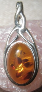 Gemsations Sterling Silver Amber Pendant