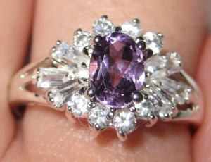 Gemsations Sterling Silver and Amethyst Ring