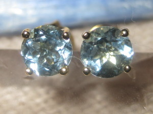 Gemsations Gold Vermeil and Aquamarine Earrings
