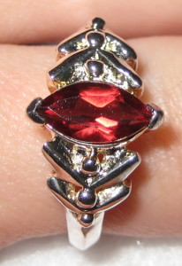 Gemsations Sterling Silver and Garnet Ring