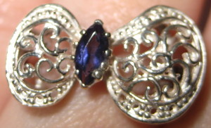 Gemsations Sterling Silver and Iolite Ring