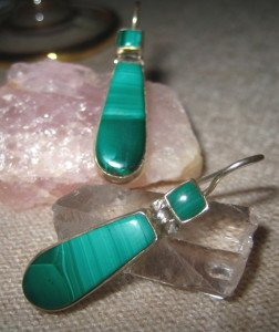 Gemsations Malachite and Sterling Silver Earrings