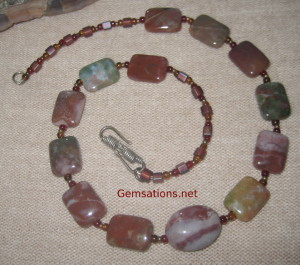 Gemsations Originals Jasper and Sterling Silver Necklace