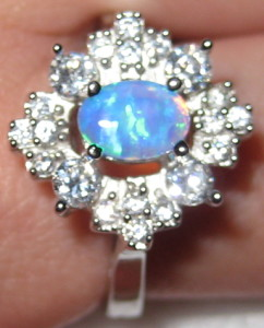 Gemsations created opal and sterling silver ring